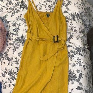 Mustard yellow dress